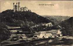 Postcard Limburg an der Lahn in Hessen, Schloß Schaumburg mit Umgebung
