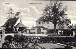 Postcard Cham am Fluss Regen Oberpfalz, Schloss mit Kapelle