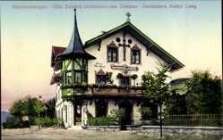 Postcard Oberammergau in Oberbayern, Villa Daheim, Wohnhaus von Anton Lang