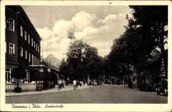 Postcard Ilmenau im Ilm Kreis Thüringen, Lindenstraße, Straßenverkehr