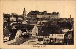 Postcard Günzburg in Schwaben, Totalansicht der Ortschaft, Schloss