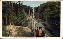 Postcard Baden Baden im Stadtkreis Baden Württemberg, Drahtseilbahn, Merkurbahn
