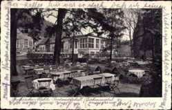 Postcard Weinheim an der Bergstraße, Fuchssche Mühle, Gartenwirtschaft, Birkenauer Tal