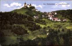 Postcard Kirchensittenbach Mittelfranken, Burg Hohenstein mit Dorf