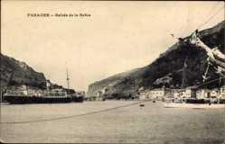 Postcard Pasages Baskenland, Salida de la Balua, Hafenblick