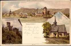 Künstler Litho Biese, C., Lahnstein, Burg Lahneck, Wenzelkapell