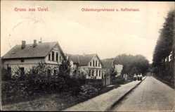 Postcard Varel am Jadebusen, Oldenburgerstraße und Kaffeehaus