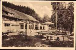 Postcard Bad Pyrmont in Niedersachsen, Schützenhaus, Inhaber Stille