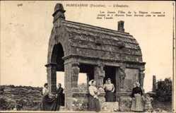 Ak Plougasnou Finistère, L'Oratoire, Frauen in bretonischer Tracht