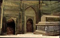 Postcard Delhi Indien, Tomb of Shamsuddin Altamash, Grabmal, Innenansicht