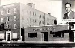 Ak Canistota South Dakota USA, Ortman Clinic, Dr. H. W. Ortman, Hotel