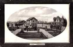 Passepartout Ak Alsdorf in Westfalen, Blick auf das Kriegerdenkmal