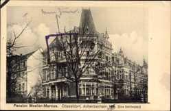 Postcard Düsseldorf am Rhein, Pension Moeller Marcus, Achenbachstraße, Schillerplatz