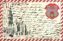 Präge Wappen Ak Hannover in Niedersachsen, Aegidenkirche, Rückansicht