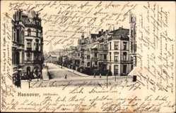 Postcard Hannover in Niedersachsen, Straßenpartie, Schiffgraben, Wohnhäuser
