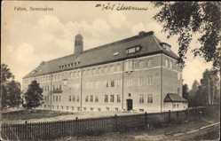 Postcard Falun Schweden, Seminariet, Blick auf ein Gebäude, Fassade, Eingang