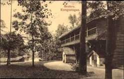 Postcard Örebro Schweden, Kungsstugan, Blick auf ein Holzhaus, Gewässer