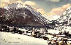 Ak Pontresina Kt. Graubünden Schweiz, Blick auf den Ort im Winter, Novitas 39711