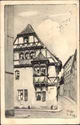Künstler Ak Hecht, Paul, Magdeburg in Sachsen Anhalt, Kreuzgangstraße