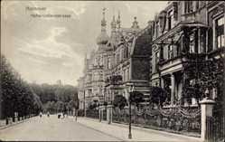 Postcard Hannover in Niedersachsen, Blick in die Hohenzollernstraße, Häuser