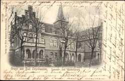 Postcard Bad Oeynhausen in Nordrhein Westfalen, Blick auf das Sanatorium, Fassade