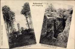 Postcard bei Niedernhausen, Kellerskopf, Aussichtsturm, Erbsenacker, Krater