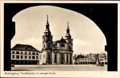 Postcard Ludwigsburg in Baden Württemberg, Marktplatz, Evangelische Kirche