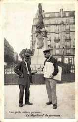 Ak Paris, Les petits métiers parisiens, Marchand de Journaux, Zeitungsverkäufer
