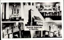 Foto Ak Ozimek Malapane Oberschlesien, Kosciol Katolicki, Kirche