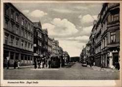 Postcard Wesermünde Mitte Bremerhaven Niedersachsen, Lloyd Straße, Straßenbahn