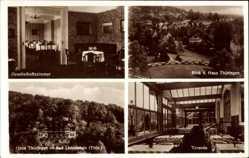 Postcard Bad Liebenstein im Wartburgkreis, Haus Thüringen, Veranda,Gesellschaftszimmer