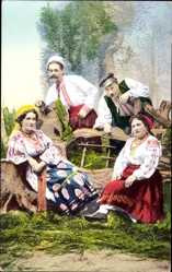 Ak Ukraine, Widoki i typy Ukrainy, Ukrainische Bauerntrachten