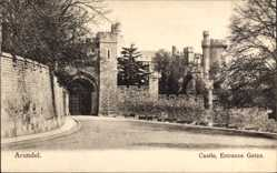 Postcard Arundel South East England, Castle, Entrance Gates