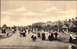 Postcard Ryde Isle of Wight South East, Esplanade Gardens, Spaziergänger