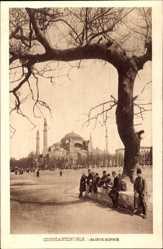 Postcard Constantinople Istanbul Türkei, Sainte Sophie, Hagia Sophia