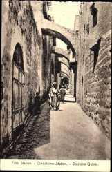 Postcard Jerusalem Israel, Fifth Station, Cinquième Station, Stazione Quinta