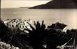 Foto Ak Herceg Novi Montenegro, Hotel am Wasser, Palmen