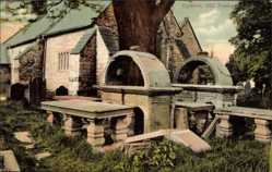 Postcard Dyserth Wales, Old Tombs, Alte Gräber, Kirche, Friedhof