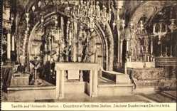 Postcard Jerusalem Israel, XII et XIII Stations, le Calvaire, Motiv eines Altars
