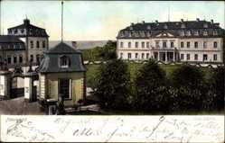 Ak Neuwied in Rheinland Pfalz, Blick auf das Schloss, Frontansicht, Tor