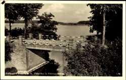 Postcard Templin im Kreis Uckermark, Blick auf Fähr See und Fährsee Brücke