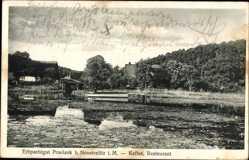 Postcard Praelank Neustrelitz am Zierker See, Erbpachtgut, Kaffee Restaurant