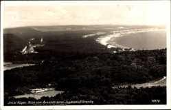 Postcard Insel Rügen in der Ostsee, Blick vom Aussichtsturm Jagdschloss Granitz