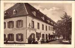 Postcard Altenberg im Dhünntal Odenthal, Hotel zur Rentei, Geschwister Wasserfuhr