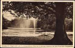 Postcard Bagnosee Steinfurt in Nordrhein Westfalen, Fontäne im Bagnosee Aug. 1928