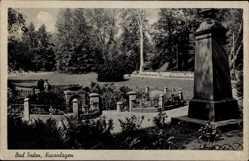 Postcard Bad Soden am Taunus Hessen, Partie in den Kuranlagen, Blumenbeete