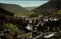 Postcard Bad Wildbad im Kreis Calw Baden Württemberg, Blick v. Süden mit Charlottenweg