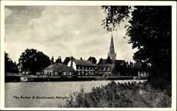 Postcard Abingdon South East, The Anchor and Almshouses