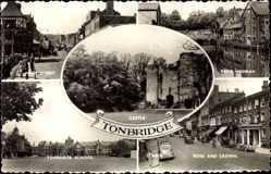 Passepartout Ak Tonbridge South East, Castle, High Street, River Medway, School
