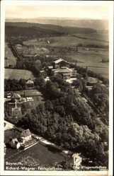 Postcard Bayreuth, Fliegeraufnahme, Stadtansicht, Richard Wagner Festspielhaus